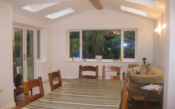 Rear extension to replace conservatory